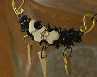 Witch Doctor Necklace Mixed Media Jewelry