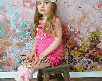 Bubblegum Pink Vintage Lace Petti Romper - Newborn - Baby Girl outfit- birthday outfit- Easter outfit- Toddler outfit