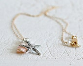 Starfish And Pearl Neckla...