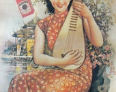"""China Town Addict -  Vintage Shanghai Girl """"Hatamen"""" cigarette advertising poster  (Oriental Chinese art poster, 1930's style)"""