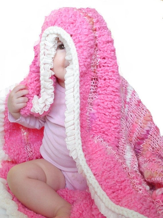 Baby/Child Handmade Bamboo Hexagon Blanket in Bubblegum Pop Pink