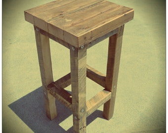 Eco-Friendly Handmade Recycled Chair / Bar Stool - Made From Recycled Old Queenslander Houses