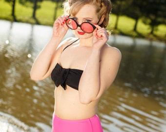 Sale 20.00 off Minnie Basic Bow High Waist Halter Two-Piece Bikini
