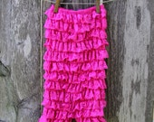 ON SALE Candy Pink Lace Petti Romper -  Ready To Ship