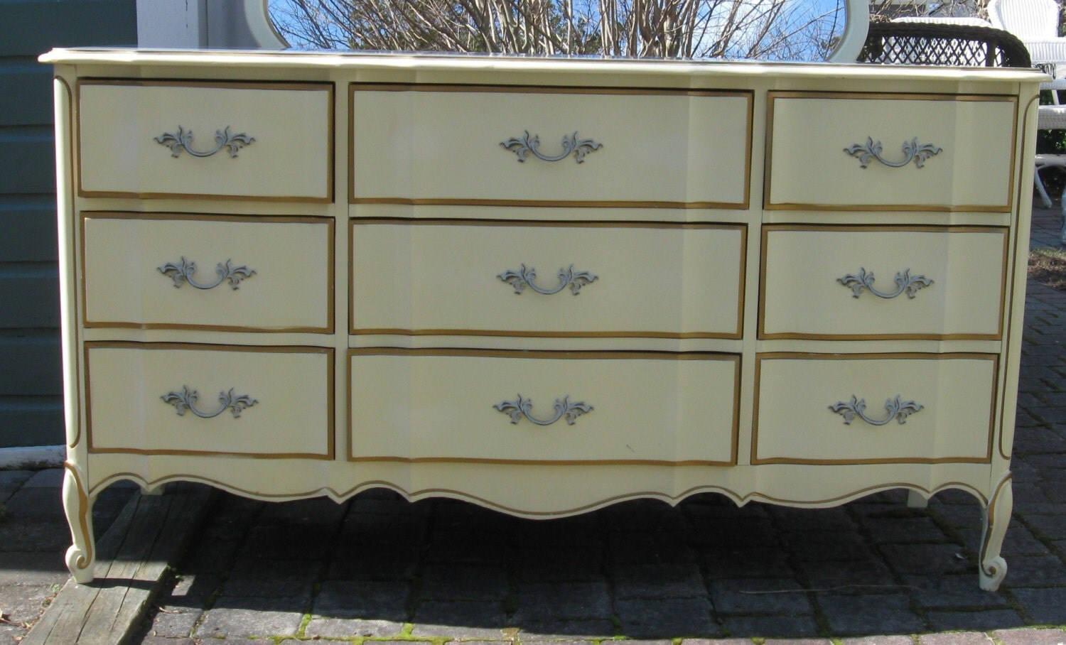 Reserved French Provincial Triple Dresser Made By Dixie With