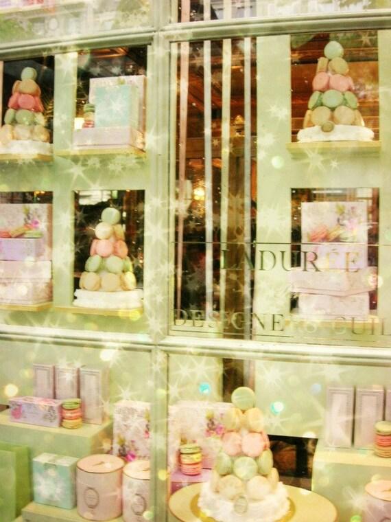 Pastel Paris Photo Laduree Mint Pink Art Photo Print Baby