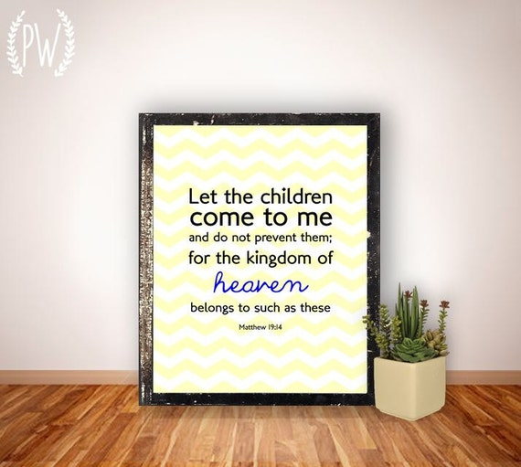 Christian Wall Decor For Nursery : Bible verse print nursery children s room by printablewisdom