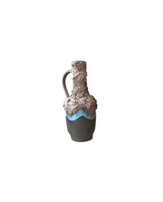 East Germany Fat Lava Vase