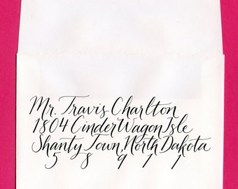 Calligraphy - Custom Envelope Addressing - Cinder Style