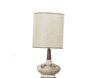 Small Chalk Plaster Table Lamp