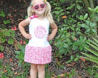 Girls T-shirt dress pdf pattern ruffles SASSY SUSIE