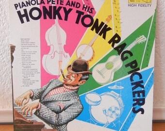 Vintage Vinyl LP - Honky Tonk Album - Pianola Pete - 1950s or 1960s