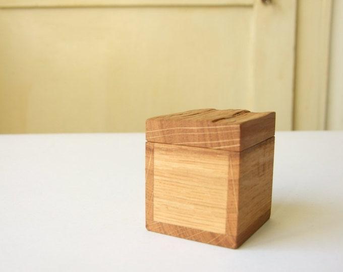 Wooden Box Keepsake Box Ring Box Oak Wood Jewelry Box Gift Box Natural Wood Ecological Box