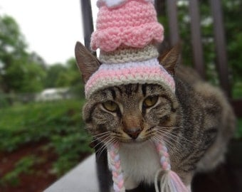 Hats for Cats, Cat Hat, Hat for Cat,   Cat Costume, Cupcake Cat Hat, Cupcake Hat for Cat, Cupcake Costume for Cat, Cupcake Hat for Cats