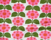 AMAZING Vintage Neon Posy Flower Screenprint Fabric