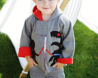 Boys Patterns, Jacket Patterns, Coat Patterns, PDF Sewing Patterns, Childrens Sewing Patterns, Hoodie Patterns, Boys Sewing Patterns MONSTER