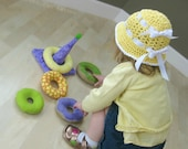 CUSTOM Donuts Soft Ring Stacker Toy Baby Stacking Rings Stuffed Donuts Baby Toy MADE to ORDER You Choose Fabric