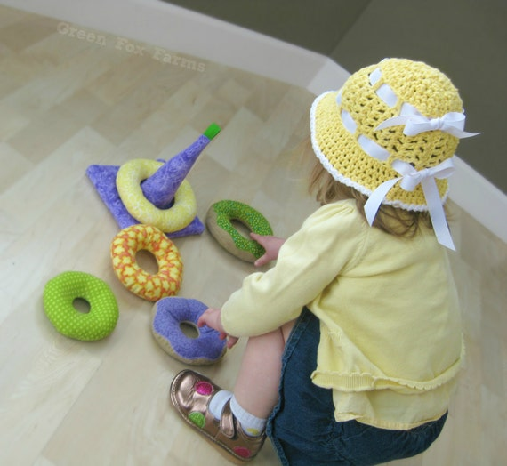 Items Similar To Custom Donuts Soft Ring Stacker Toy Baby