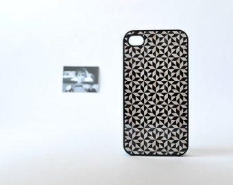 iPhone 4/4s & iPhone 5 Case - Geometric Wood Pattern iPhone Case in Black - Geometric iPhone Case - Wood iPhone Case - Classy iPhone Case