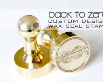 B20 Design Your Own All Brass Wax Stamp Stamp - 5 Sizes Avaialble