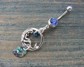 mermaid belly ring mermaid bellybutton ring abalone belly ring beach belly ring mermaid body jewelry