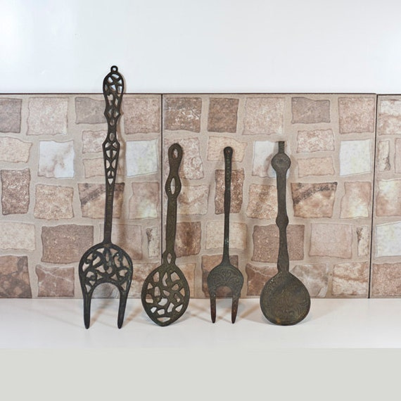 Kitchen Metal Wall Art: Vintage Kitchen Utensils Restaurant Decor Decorative Metal
