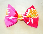 "Designer Lilly Pulitzer ""Scarlet Begonia"" Print Hair Bow"