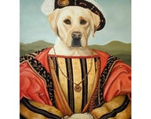 Seve, Yellow Labrador Retriever,  5x7 Print, Dog Rules, Dog Prince, Dressed Up Dogs