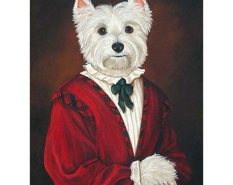 Westie Prints, West Highland Terrier, Molly McGee Dog Portrait