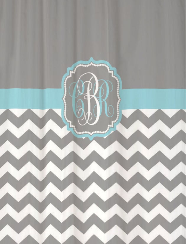 blue and gray shower curtain.  zoom Shower Curtain Chevron Fabric YOU CHOOSE COLORS 70 74 78