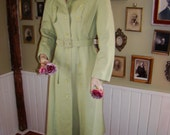 Vintage 60s First Glance New York Green Trench Coat size Medium