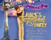 Tangled Party Printable Invitation - with Photo