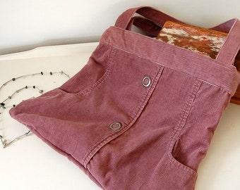Pink Recycled Shoulder Bag, Eco Bag