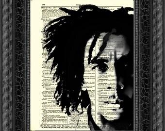 Bob Marley, Moody Bob Marley Dictionary Art Print, Buy 2 Get 1 Free, Wall Decor, Dictionary Page Art, Mixed Media Art