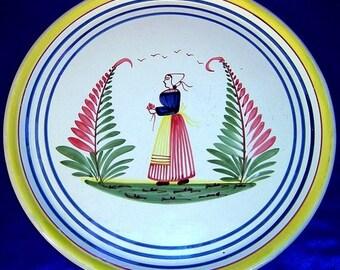 Superb Old Quimper Bretonne Gros-Filets Platter/Tray