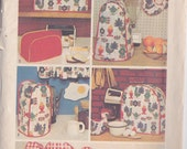 Simplicity 5495 Vintage Pattern Decorator Kitchen Covers For All Appliances UNCUT