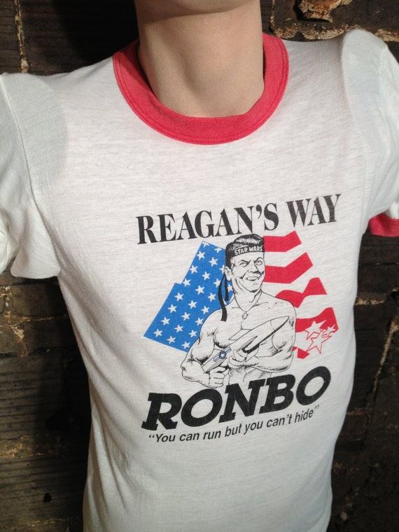 Vintage Ronald Reagan Ronbo T Shirt Size Large By