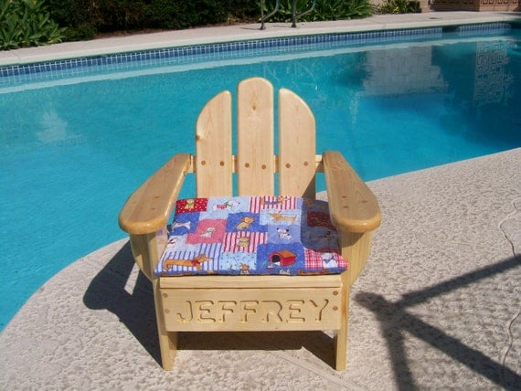 Kids adirondack chair made to order with name by silverwoodfox for Kids chair with name