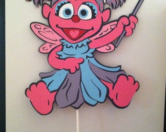 "Sesame Street's Abby Cadabby 11"" Birthday Centerpiece Pick or Decorations"