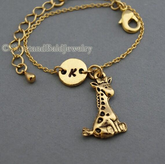 Cute Giraffe Charm Bracelet Baby Giraffe By