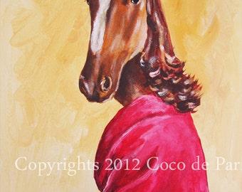 Art Original Painting modern Animal painting art painting large Portrait painting: Lady Horse