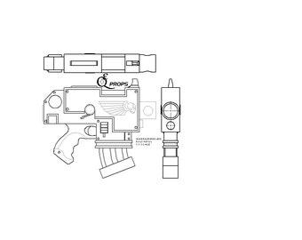 Warhammer 40K Bolt Pistol Blueprint