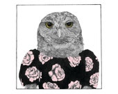 Burrowing Owl Giclée Print, Limited Edition, 7 inch by 7 inch