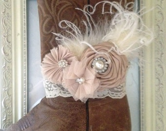 Bridal Boot Bracelet Country Chic Wedding