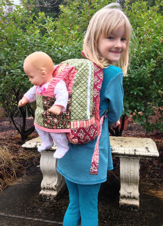 Best Friend Take Along Pack Doll Carrier Kids Backpack