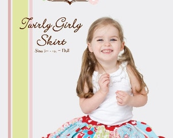 Pattern - Twirly Girly Skirt Paper Sewing pattern by Little Lizard King