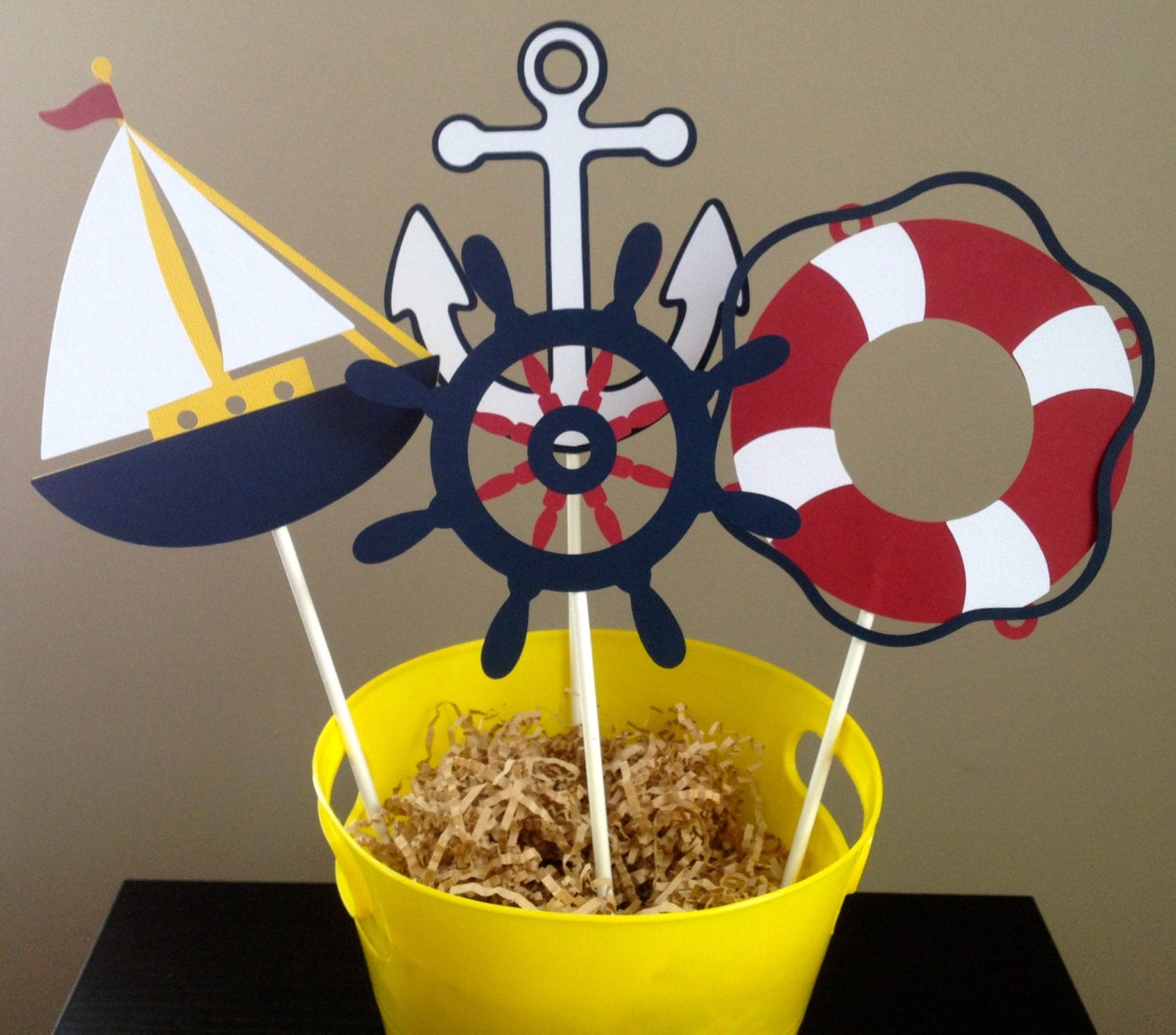 8 piece nautical themed centerpiece by 2creativegirls on etsy