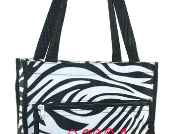 Zebra Tote with Free Embroidery