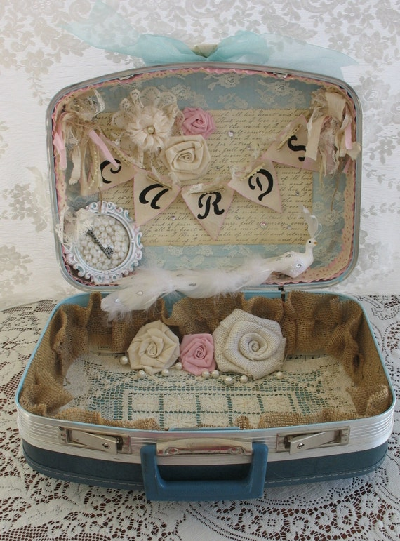 Vintage Card Box For Wedding Vintage Suitcase Wedding Card