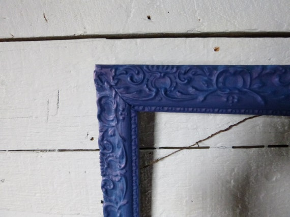 picture frame navy blue by bigbarnantiques on etsy. Black Bedroom Furniture Sets. Home Design Ideas